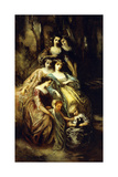 Empress Eugenie and Her Attendants Giclee Print by Adolphe Joseph Thomas Monticelli