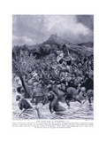King Penda Slain at Winwaedfield Ad655, 1920's Giclee Print by Alfred Pearse