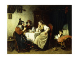 A Pleasant Conversation, 1887 Giclee Print by Rudolf Epp