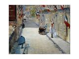 Flags in Mosnier Street; La Rue Mosnier Aux Drapeaux, 1878 Giclee Print by Edouard Manet