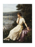 Portrait of a Woman by a Lake Giclee Print by Albert Lynch