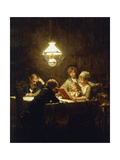 The Reading Lesson Giclee Print by Knut Ekvall
