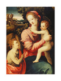 The Madonna and Child with the Infant Saint John the Baptist, a Wooded River Landscape with an… Giclee Print by Michele Di Ridolfo Tosini