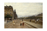 Early Morning Along the Seine Giclee Print by Marie Francois Firmin-Girard