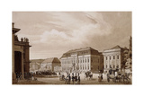Unter Den Linden, Berlin. a View from the Neue Wache Towards the Kronprinzenpalais with the… Giclee Print by Karl Loeillot-Hartwig