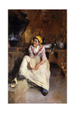A Young Girl with a Tambourine Giclee Print by Vicenzo Irolli