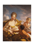 Venus, Cupid and a Faun, 1708-13 Giclee Print by Giovanni Antonio Pellegrini