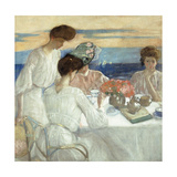 Afternoon Tea on the Terrace Giclee Print by Frederick Carl Frieseke
