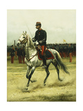 A Cavalry Officer Passing Troops, 1885 Giclee Print by Jean-Baptiste Edouard Detaille