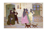 Going for a Stroll; De Paseo Giclee Print by Pedro Figari
