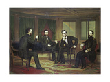 The Peacemakers, March 1865, 1868 Giclee Print by George Peter Alexander Healy