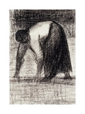 A Peasant Woman with Hands in the Ground; Paysanne Les Mains Au Sol, C.1882 Giclee Print by Georges Seurat