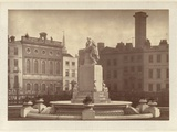 The Shakespeare Fountain and Statue in Leicester Square Photographic Print