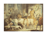 Lycurgus Entering Athens; and Theseus's Approach to Athens Giclee Print by Edward Dayes