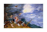 An Allegory of Air, C.1630 Giclee Print by Jan Brueghel the Younger