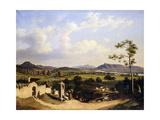 Views of Salzburg; Blick Auf Salzburg, 1847 Giclee Print by Hubert Sattler