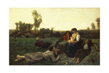 The Haymakers at Rest; Le Repos De Faneuses, 1873 Giclee Print by Jules Breton