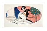 A Stolen Kiss  Giclee Print by Gerda Marie Frederike Wegener