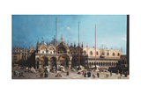 San Marco and the Doge's Palace, Venice Giclee Print by  Canaletto