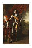 Portrait of a Gentleman, Possibly a Member of the Hohenzollern, Full-Length, in Armour Giclee Print by Pieter Nason