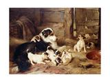 The Foster Mother, 1887 Giclée-tryk af Walter Hunt