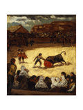 The Bullfight Giclee Print by Eugenio Lucas y Padilla
