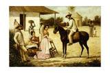 Family of Peasants at the Door of the Barn; Familia De Guajiros a La Puerta De Un Potrero, Ca.1880 Giclee Print by Victor Patricio Landaluce