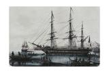 L'Astrolabe Et La Zelee, Arrivee a Noukahiva Giclee Print by Louis Lebreton