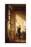 A Writer Sharpening His Quill; Der Schreiber, Eine Feder Schneidend Gicléetryck av Carl Spitzweg