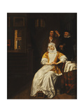 A Doctor Visiting a Young Lady in a Bedroom Giclee Print by Samuel van Hoogstraten