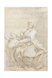 The Virgin and Child Near a Basin; Le Vierge Et L'Enfant Pres D'Une Vasque Giclee Print by Giovanni Battista Gaulli