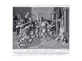 Cynewulf of Wessex Slain at Merton, Surrey Ad786, 1920's Giclee Print by W.P. Caton Woodville