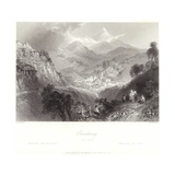 Enniskerry in County Wicklow Giclee Print by William Henry Bartlett