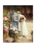 A Flower Market; Au Marche Aux Fleurs Giclee Print by Victor Gabriel Gilbert
