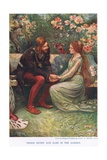 Prince Henry and Elsie Giclee Print by John Henry Frederick Bacon