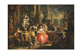 An Allegory of the Visual Arts Giclee Print by Johann Georg Platzer