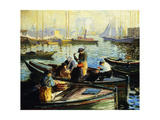 Boston Harbor Giclee Print by Arthur Clifton Goodwin