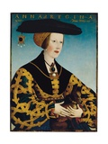 Portrait of Queen Anne of Hungary Giclee Print by Hans or Johan Maler