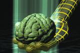 Digital Brain Photographic Print by Laguna Design