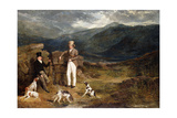 Two Gentlemen with Pointers on a Grouse Moor, 1824 Giclee Print by John Frederick Herring Snr