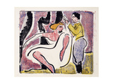 Russian Dancers; Russisches Tanzerpaar Giclee Print by Ernst Ludwig Kirchner
