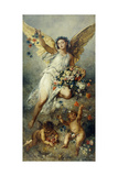 Flora with Putti-Peace Giclee Print by Ludwig Knaus