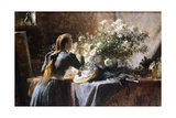 Visiting the Studio Giclee Print by Frans Mortelmans