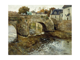 The Old Stone Bridge Giclee Print by Fritz Thaulow