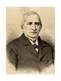 Miguel Colmeiro Penido (1816-1901). Engraving Giclee Print by Arturo Carretero y Sánchez