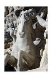 Italy. Rome. Fontana Di Trevi. 18th Century. Sea Horse Giclee Print