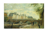 The New Bridge of the City; Le Pont Neuf De La Cite Giclee Print by Albert-Charles Lebourg