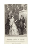 Queen Marie Antoinette and Honore Gabriel Riqueti Giclee Print by Alfred Johannot