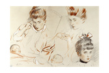 Sketches of Mme Giclee Print by Paul Cesar Helleu