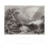 Scene at Gougane Barra in County Cork Giclee Print by William Henry Bartlett